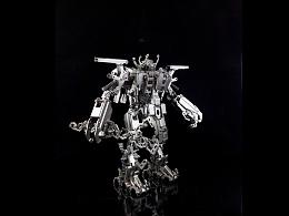 机械党 全金属  机器人  空军一号 模型