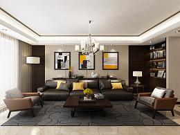 现代摩登中式平层设计