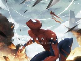 《蜘蛛侠:英雄归来》(9.8上映) - 插画海报