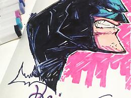 好久没更新了,先接上一个后的作品,一只手绘蝙蝠侠