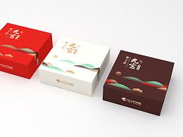 饼干包装零食包装曲奇饼干盒子包装盒电商淘宝天猫包装C4D建模渲染