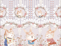 原创柄图《三胞胎兔兔宝》