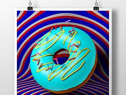 C4D甜甜圈建模(附源文件)