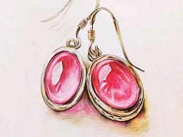 珠宝玉石与服装手绘都是我的日常