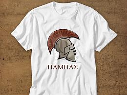 斯巴达战盔-图腾-文化衫设计