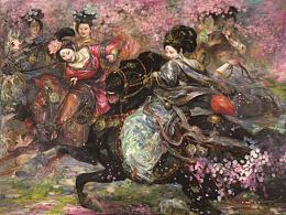 油画作品《春光》