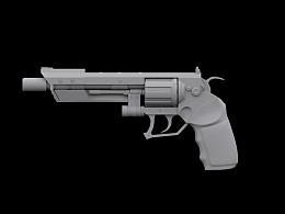 三维左轮手枪高模