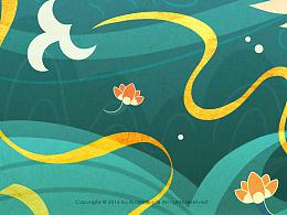 日月之神,神话为画——装饰插画