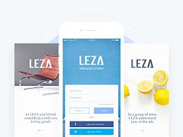 LEZA App Design