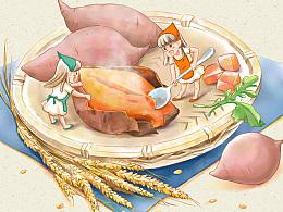 一组食物插画