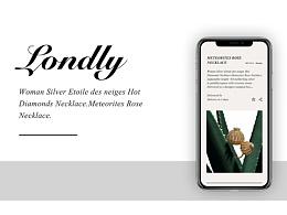 Londly Jewelry Web Design