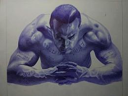 圆珠笔画-阿米尔汗