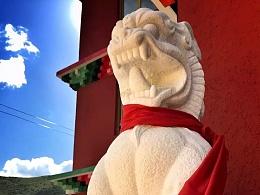 2015 汉白玉石狮 安座于青海白玉塔唐寺