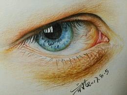 (教程)普通红辉教你画一幅写实眼睛
