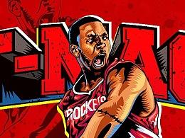 NBA插画【麦迪】