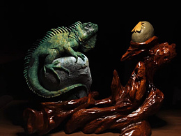 新年第一个作品 老样子 广绿玉 猎蜥