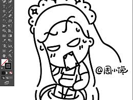 小馋版,零失败松饼卡通教程待续..
