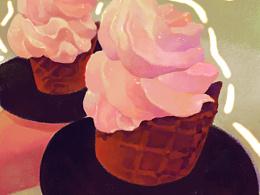 冰淇淋_插画