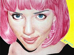 【圆珠笔肖像】——Scarlett Johansson