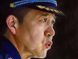 上一组李浩肖像过程图