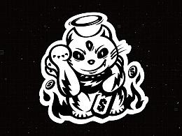 欧米刻潮流水杯品牌logo / 包装 / 插画设计 厦门vi设计