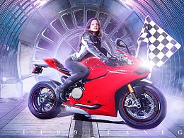 摩托车合成海报练习