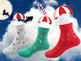 圣诞节气氛 新年卡通儿童袜子 直通车图 站内主图 缤纷多彩袜子