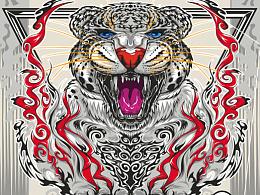 猎豹潮流矢量插画