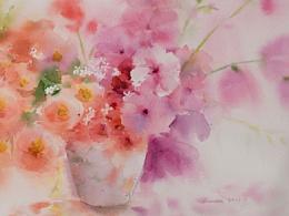 水彩|画纸上的春天