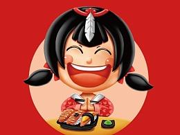 广州羽寿司品牌吉祥物