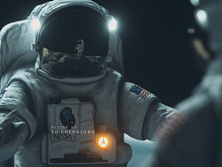 octane 宇航员NASA-外太空场景-渲染练习