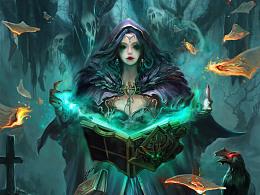 地狱魔法书-死灵术【一张卡牌的临摹