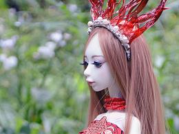 BJD4分女全套(红裙)