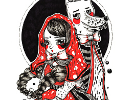 练习稿:小红帽与大灰狼 or 旗袍兔女