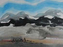 意象西藏 系列之 - 纸本水墨