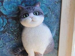 羊毛毡英短猫