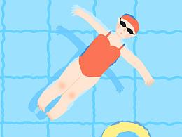 夏日-游泳