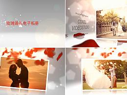 会声会影X8制作 时尚绚丽玫瑰婚礼相册开场