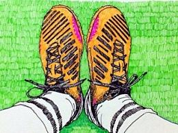 最近的球鞋插画