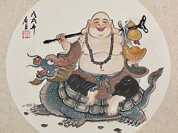 原创中国风趣味漫画人物作品
