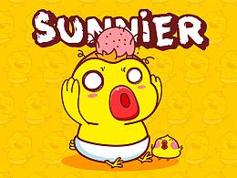桑拿鸡卡通形象吉祥物设计微信表情gif设计---茁茁猫原创设计