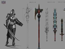 【原创】以前为在TrionWorlds游戏RIFT 画的武器设计