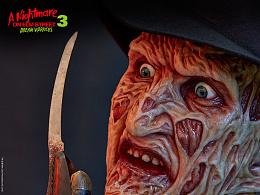 ECC《猛鬼街Ⅲ:梦之战》Freddy弗莱迪1比1雕像观赏