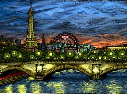 城市系列——为《时间观念》杂志创作的六幅插图