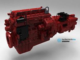 汽车发动机模型展示