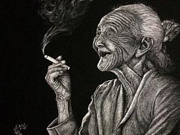 刮画《往事如烟》