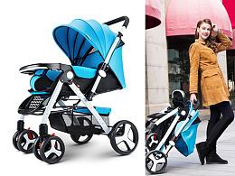 婴儿推车产品摄影以及人像拍摄