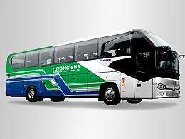 谋客车车体图案设计(喜欢复古风)