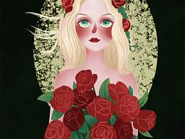 插画练习【玫瑰与你】