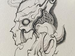 千鸢锁画【纹身手稿】
